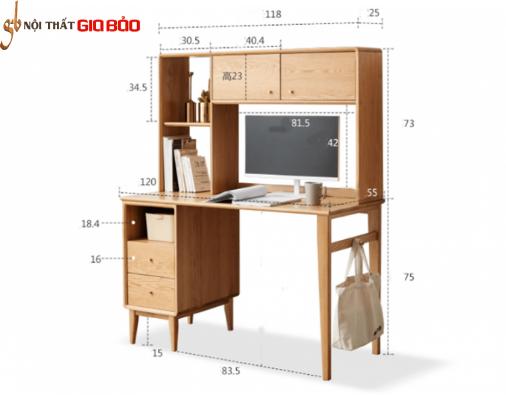 Mẫu bàn làm việc bằng gỗ tự nhiên đẹp GHS-4795