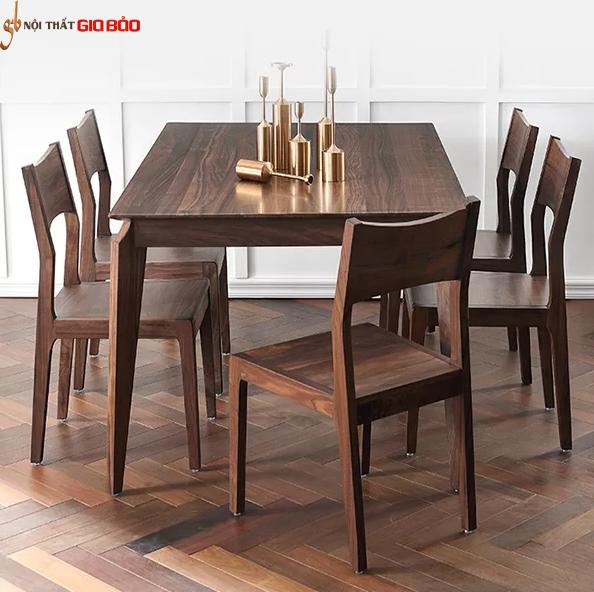 Bộ bàn ăn gia đình bằng gỗ tự nhiên đẹp GB-4607