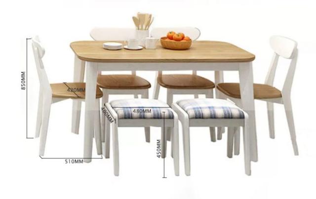 Bộ bàn ăn gia đình mang phong cách thanh lịch GB-4565
