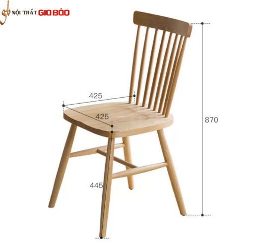 Bàn ăn gia đình nhỏ gọn gỗ sồi tự nhiên GB-4645