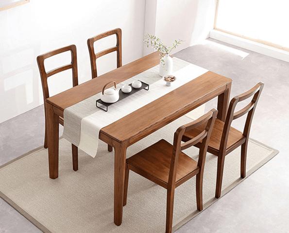 Mẫu bàn ăn gỗ sồi thanh lịch cho gia đình GB-4569