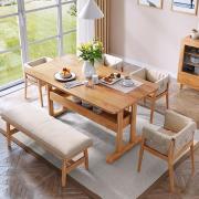 Bàn ăn gỗ sồi phong cách hiện đại tiện dụng GB-4566
