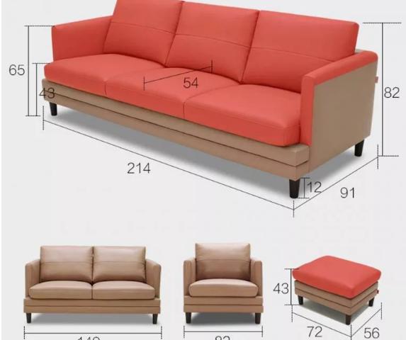 Ghế sofa da nhập khẩu đẳng cấp cho phòng khách GB-8277