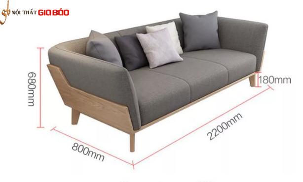 Ghế sofa gia đình gỗ tự nhiên kiểu dáng đẹp GB-8285