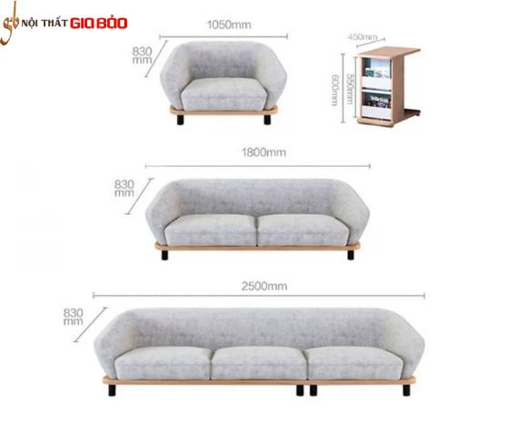 Ghế sofa hiện đại thiết kế ấn tượng GB-8283