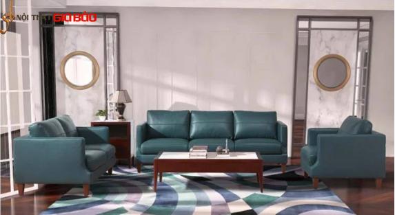 Ghế sofa bọc da cao cấp, sang trọng GB-8278