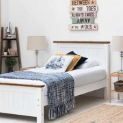 Giường ngủ gỗ nhỏ gọn phong cách Bắc Âu GB-939