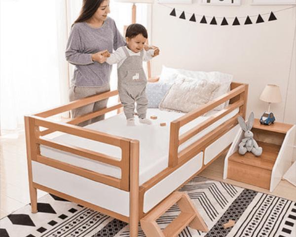 Giường ngủ gỗ tự nhiên cho bé GB-9057