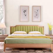 Giường ngủ gia đình gỗ sồi bọc da cao cấp GB-9056