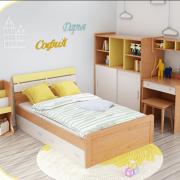 Giường ngủ cho bé bằng gỗ tự nhiên GB-9054