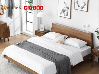 Giường ngủ hiện đại bằng gỗ sồi cho gia đình GB-9049