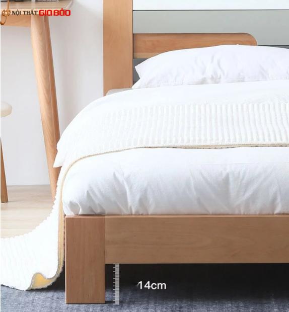 Mẫu giường ngủ gỗ tự nhiên thiết kế hiện đại GB-9059