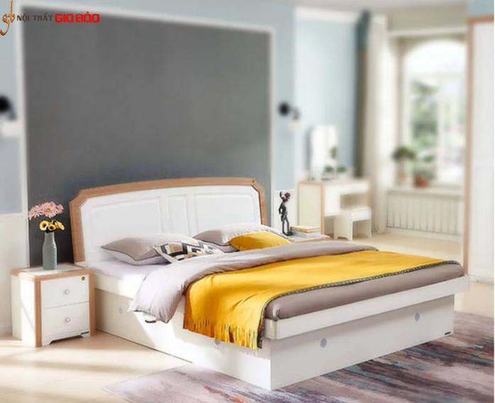 Giường ngủ gỗ sồi tự nhiên thiết kế thanh lịch GB-9048