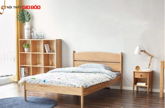 Giường ngủ hiện đại bằng gỗ sồi GB-9058