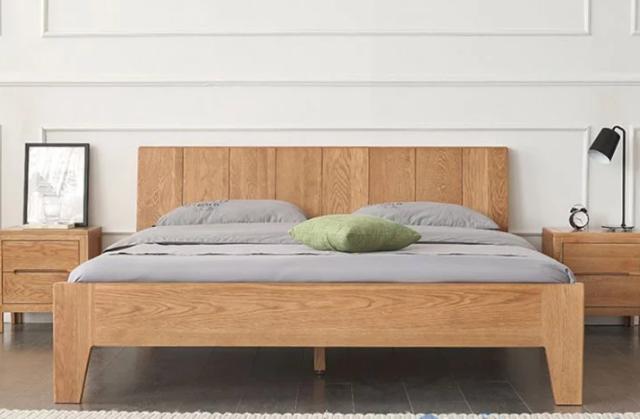 Giường ngủ gỗ sồi tự nhiên chất lượng cao GB-9046