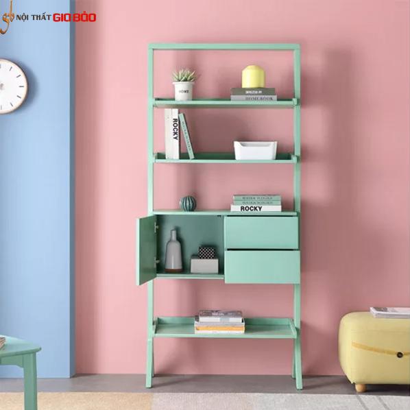 Giá sách gia đình đẹp phong cách hiện đại GB-2153