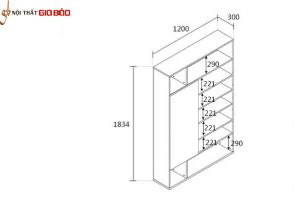 Giá đựng sách tiện dụng kiểu dáng hiện đại GB-2134