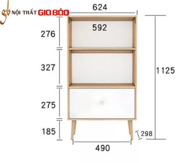 Giá sách phòng khách bằng gỗ công nghiệp GB-2142