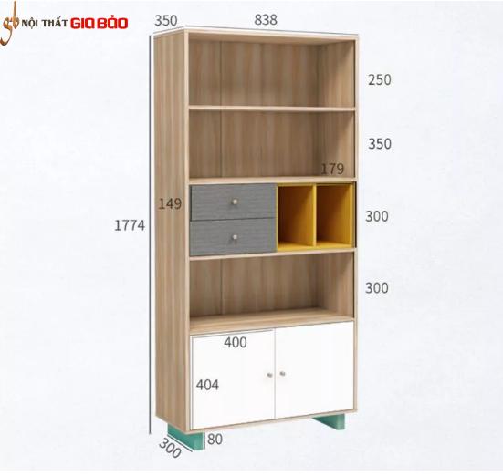 Giá đựng sách trang trí phòng khách hiện đại GB-2151