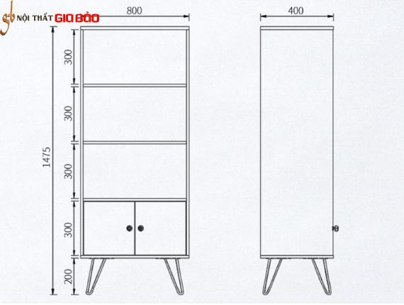 Giá để sách nhỏ gọn phong cách hiện đại GB-2147