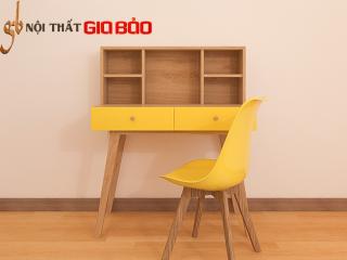 Bàn làm việc gỗ công nghiệp liền giá để sách GB-4634