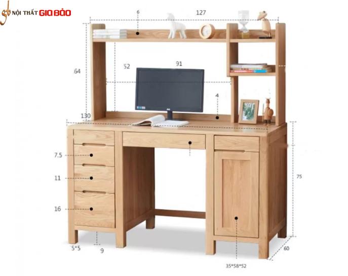 Bàn làm việc nhỏ gọn gỗ tự nhiên GB-4567