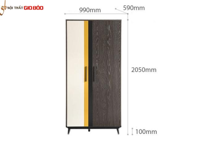 Tủ quần áo cá nhân nhỏ gọn thiết kế đẹp GB-5571