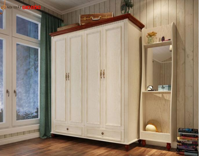 Tủ quần áo gia đình thiết kế đẹp gỗ công nghiệp GB-5567