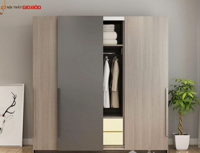 Tủ để quần áo gia đình phong cách hiện đại GB-5566