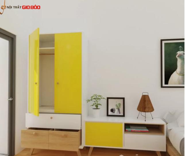 Tủ quần áo thiết kế hiện đại nhỏ gọn GB-5549
