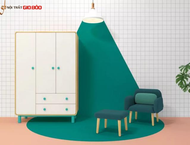 Tủ quần áo gia đình kiểu dáng nhỏ gọn đẹp GB-5524