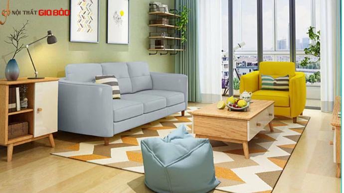 Ghế sofa da cao cấp phòng khách gia đình hiện đại GB-8275