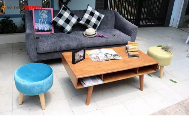 Bộ Sofa góc DOLLY màu lông chuột sang trọng GB-8009