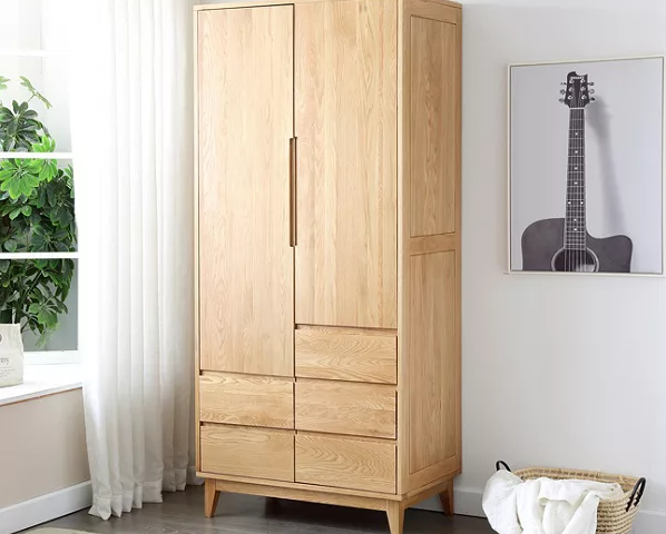 Tủ quần áo gỗ sồi tự nhiên thiết kế tiện dụng đa năng GB-5689