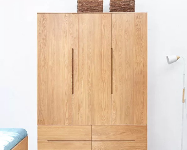 Tủ quần áo nhỏ gọn bằng gỗ tự nhiên GB-5525