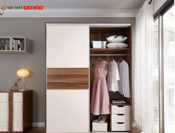 Tủ quần áo cửa lùa phong cách thiết kế thanh lịch GB-5476