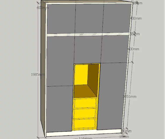 Tủ đựng quần áo thiết kế đẹp kiểu dáng nhỏ gọn GB-5576