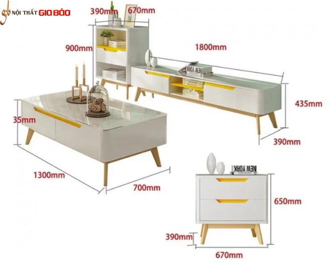 Kệ để tivi gỗ công nghiệp nhỏ gọn thiết kế hiện đại GB-3302