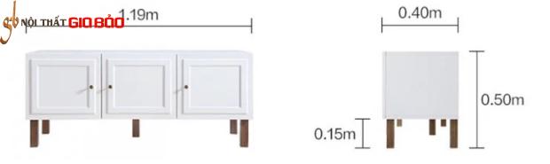 Kệ tivi gỗ kiểu dáng hiện đại GB-3311