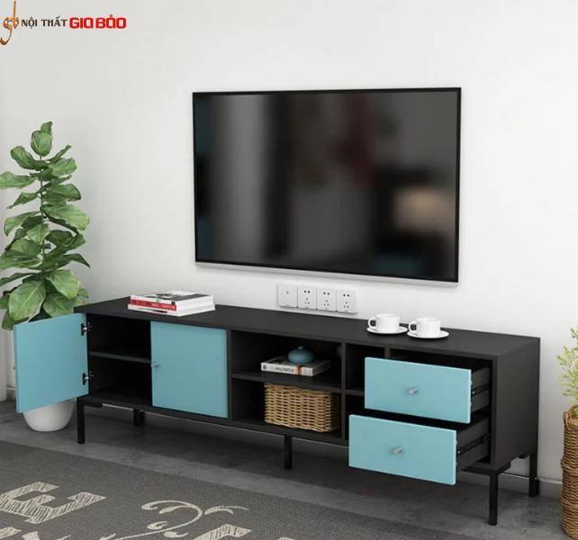 Kệ tivi gỗ công nghiệp phòng khách thiết kế hiện đại GB-3307