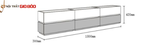 Kệ tivi bằng gỗ công nghiệp tiện dụng GB-3296