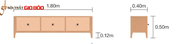 Kệ tivi gỗ tự nhiên hiện đại đẹp GB-3295