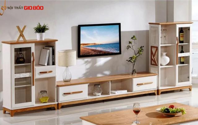 Kệ tivi gỗ sồi tự nhiên thiết kế sang trọng hiện đại GB-3305