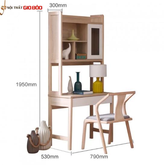 Bàn học thiết kế hiện đại bằng gỗ công nghiệp GB-4837