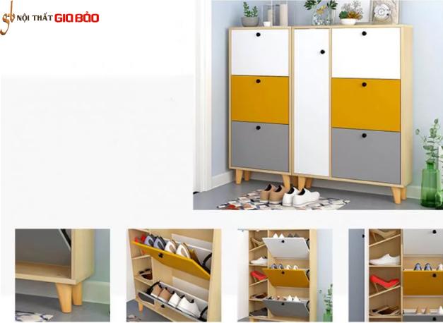 Tủ giày thông minh bằng gỗ công nghiệp GB-5535