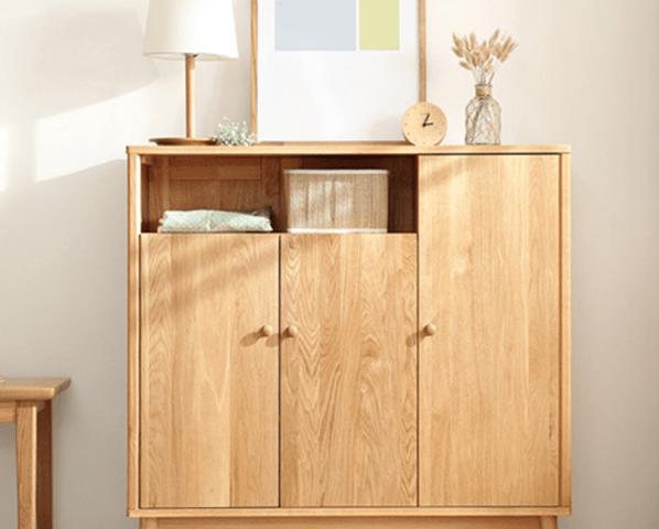 Tủ giày gia đình gỗ tự nhiên thiết kế đẹp GB-5495